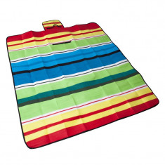 Patura Fleece Maxtar pentru picnic, 150 x 135 cm, Multicolor