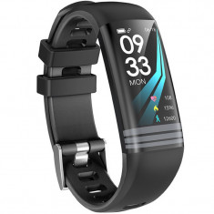 Bratara Fitness iUni G26, Display OLED 0.96 inch, Bluetooth, Pedometru, Notificari, Negru