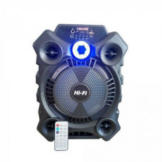 Boxa portabila ElectroAZ 8105, 20W PMPO, Bluetooth FM/SD/USB/AUX/, Negru