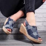 Sandale Salemila albastre cu platforma -rl