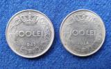 Moneda Regalitate Lot 2 Bucati 100 Lei 1943 si 100 Lei 1944  Regele Mihai