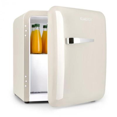 Klarstein Audrey, mini frigider, clasa de eficiență energetică A+, congelator, LED, bej foto