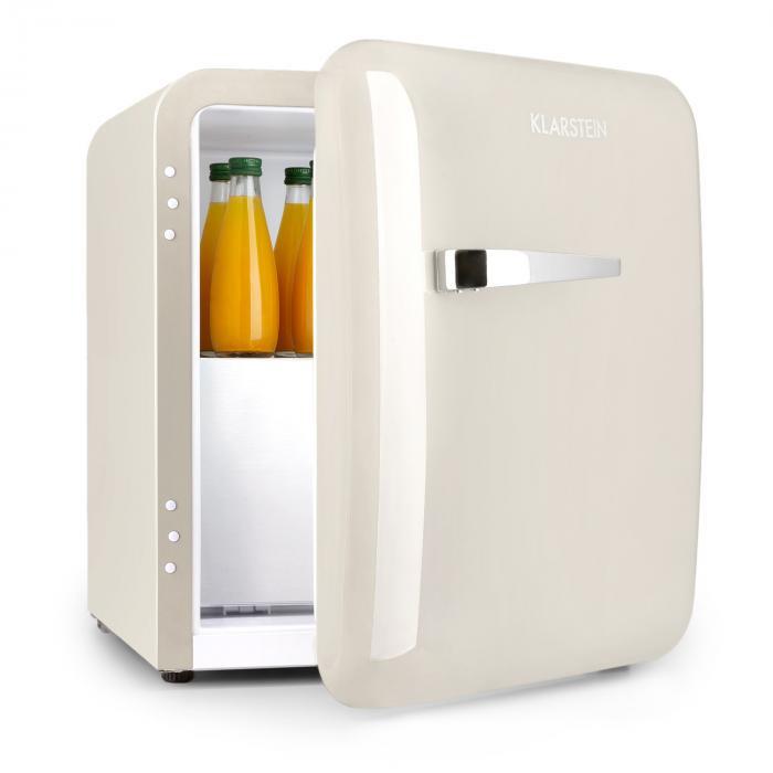 Klarstein Audrey, mini frigider, clasa de eficiență energetică A+, congelator, LED, bej