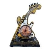 Cumpara ieftin Ceas de masa, in forma de vioara, 25 cm, 1559G-1