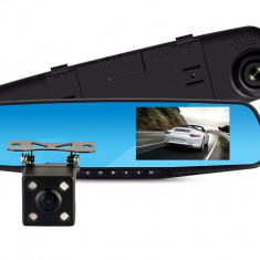Camera auto duala DVR oglinda retrovizoare cu camera marsarier