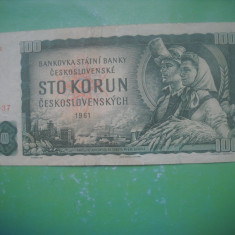 HOPCT  CEHOSLOVACIA 100 KORUN 1961 [ 1 ]