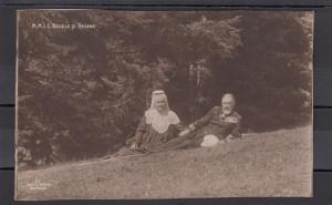 Carte Postala neterminata - Regele Carol si Regina Elisabeta - Romania