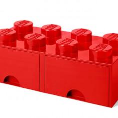Cutie depozitare LEGO 2x4 cu sertare - Rosu (40061730)