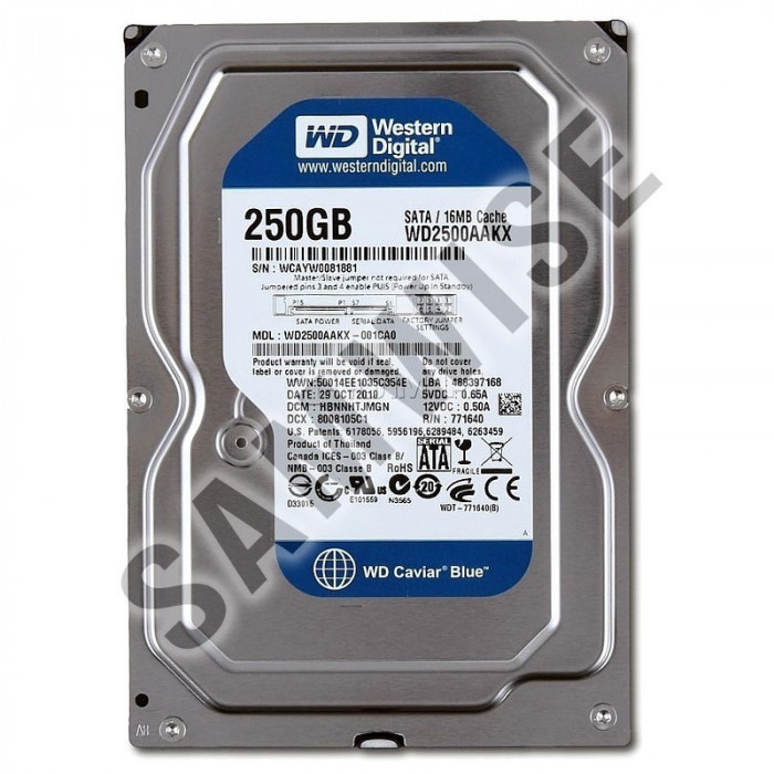 Hard Disk 250GB Western Digital Blue, SATA3, WD2500AAKX