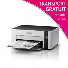 Imprimanta inkjet monocrom EcoTank Epson M1120, USB Wi-Fi, A4, sistem CISS