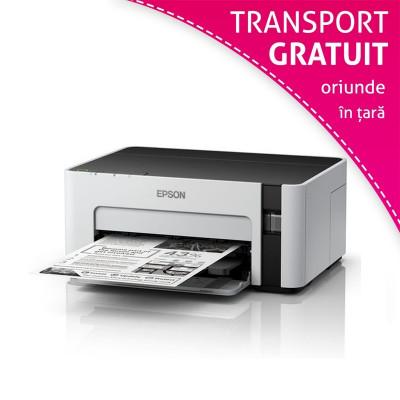 Imprimanta inkjet monocrom EcoTank Epson M1120, USB Wi-Fi, A4, sistem CISS foto