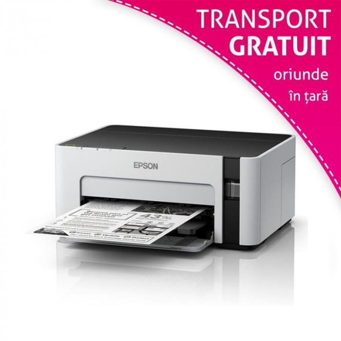 Imprimanta inkjet Epson M1100, sistem CISS, USB, monocrom, 240V, format A4