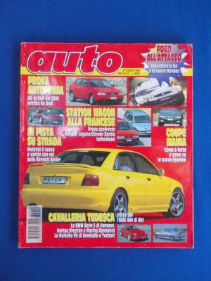 REVISTA AUTO ( IN ITALIANA ) , NR. 10 ( OCTOMBRIE ) / 1996 foto