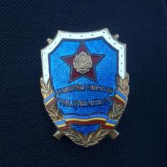 Insigna Varianta rara RPR - Pentru merite militienesti