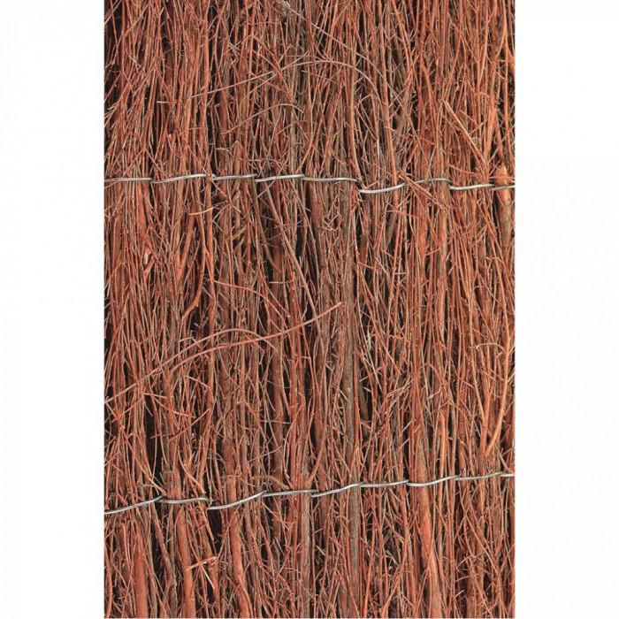 Nature Paravan de grădină din vreascuri 1x5 m 1 cm gros.