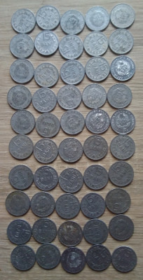 Lot 50 monede 15 bani 1975 foto