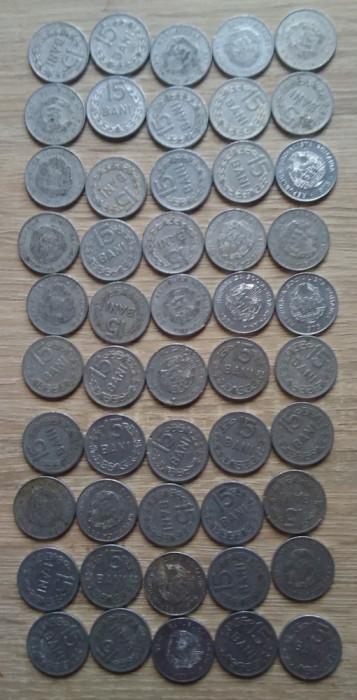 Lot 50 monede 15 bani 1975