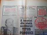 Evenimentul zilei 1 decembrie 1994- moarte scriitorului titus popovici