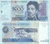 2004 (25 V), 5,000 Bolívares (P-84c) - Venezuela - stare UNC