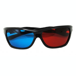 Ochelari pentru 3D cu 2 Lentile Albastru si Rosu
