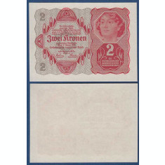 Austria 1922 - 2 kronen XF+/aUNC