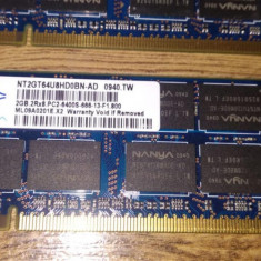 Memorii Ram laptop 4Gb DDR2 800Mhz Nanya(2x2Gb)