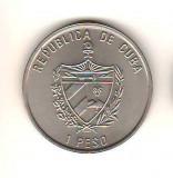 SV * Cuba 1 PESO 1997   color  * FLORA DIN CARAIBE * CORDIA SEBESTENA       AUNC