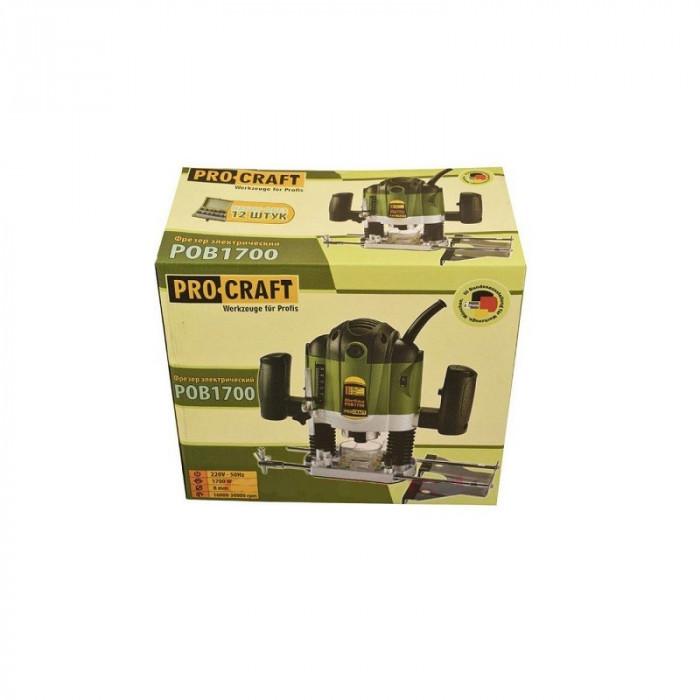 Freza pentru lemn electrica ProCraft POB1700, 1700W, adancime 50 mm