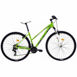 Bicicleta Mtb Dhs Teranna 2922 457mm Verde Alb 27.5