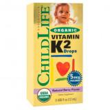 Cumpara ieftin Supliment alimentar Vitamin K2 pentru copii 15 mcg Childlife Essentials, 12 ml Secom
