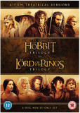 FIlme The Lord Of The Rings 1-3 / The Hobbit 1-3 DVD BoxSet 12 Discuri