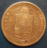 Moneda argint 1 FORINT 1879 - Ungaria, America de Nord