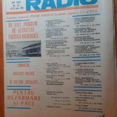 revista tele-radio saptamana 20-26 iunie 1982