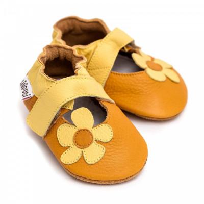 Sandale cu talpa moale Liliputi Sunflower foto