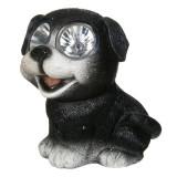 Cumpara ieftin Lampa solara Doggie Black, 15 cm, model catel