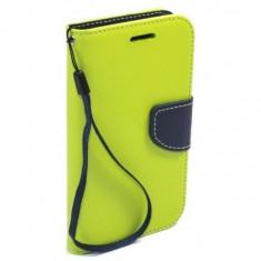 Husa tip carte cu clip Samsung Galaxy S5 Mini Verde
