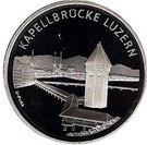 Elvetia 20 Francs 2005 - (Chapel Bridge Lucerne) Argint 20 g/835, KM-122 UNC !!!, Europa