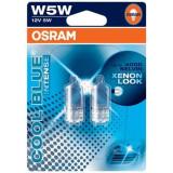 Set 2 Becuri Auto Osram W5W Cool Blue Intense 12V 5W