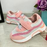 Cumpara ieftin Adidasi roz cu scai si sclipici pt fetite 22 23, Fete