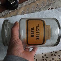 Sticla de farmacie veche.Vol.1,5 l.Stare perfecta.