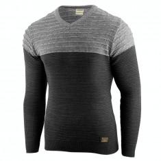 Bluza pentru barbati neagra flex fit casual alaska elegance