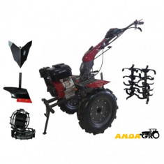 Motocultor Dkd Wm 1100D cu motor 9 Hp + Roti Metalice + Plug Arat + Rarita Fixa
