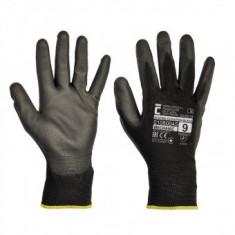 Manusi de lucru Cerva Bunting Black, nylon cu protectie nitril, marimea M