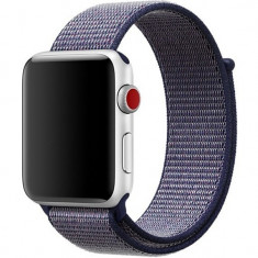 Curea pentru Apple Watch 40mm iUni Woven Strap, Nylon Sport, Midnight Blue