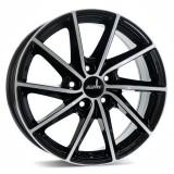 Jante SEAT IBIZA 6J x 15 Inch 5X100 et38 - Alutec Singa Diamant-schwarz-frontpoliert - pret / buc, 6, 5