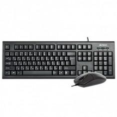 Kit tastatura + mouse a4tech kr-8520d cu fir negru tastatura