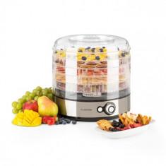 Klarstein FRUITOWER M, uscător de fructe, 5 rafturi, 35-70 ° C, 200-240 W, oțel inoxidabil