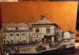 """Gheorghe Parascan """"VECHIUL BACĂU Cinema Tineretului"""" (ulei pânză semnat 50x70cm), Peisaje, Realism"""