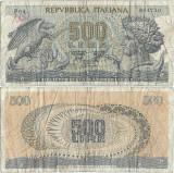 1966 (20 VI), 500 lire (P-93a.1) - Italia!