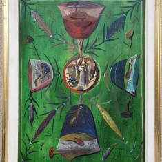 """TABLOU, STEFAN PELMUS , """" ROATA VIETII """" , U/P/C , 2000"""